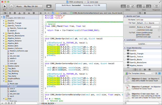 vi vim within Xcode